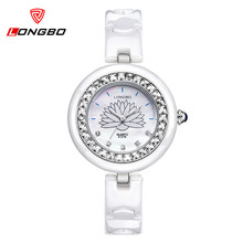 Relojes Fashion Casual Quartz Watch Women LONGBO Top Luxury Brand Watches Women Ceramic Diamond Dress Watches Relogio Feminino
