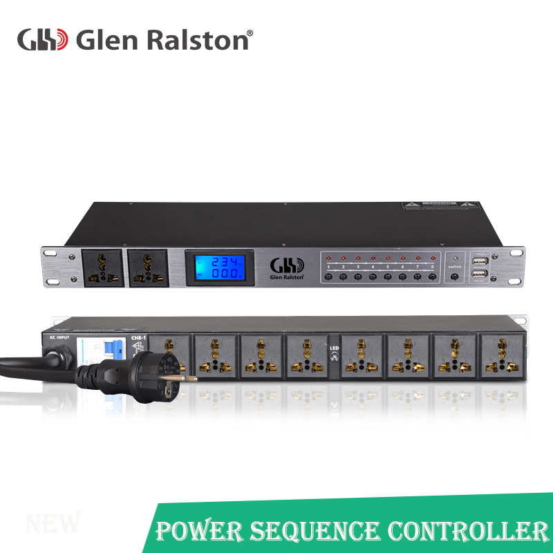 Professional  10-channel intelligent Power Timing Controller multi-function power supply sequence controller voltage displayProfessional  10-channel intelligent Power Timing Controller multi-function power supply sequence controller voltage display