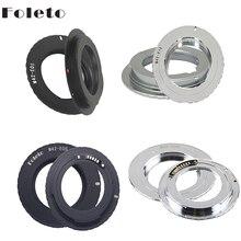 Foleto M42 렌즈 어댑터 AF 확인 링 캐논 M42 EOS 마운트 3.0 칩 500D 600D 40d 50D 60D 5D2 블랙 실버
