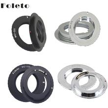 Foleto M42 Lens Adapter Af Bevestiging Ring Om Voor Canon M42 EOS Mount Met 3.0 Chip 500D 600D 40d 50D 60D 5D2 Zwart Zilver