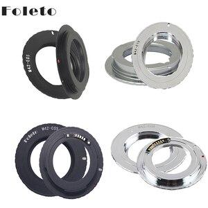 Image 1 - Кольцо для крепления объектива Foleto M42 для canon M42 EOS Mount с чипом 3,0 500D 600D 40d 50D 60D 5D2, черное/серебристое