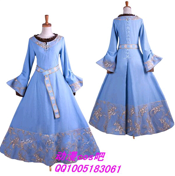 Us 85 5 Top Quality Maleficent Princess Aurora Cosplay Costume Custom Made Light Blue Dress In Anime Costumes From Novelty Special Use On