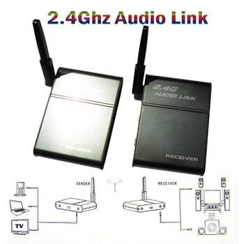 беспроводные колонки с передатчиком | Аудио передатчик ПК компьютер к Hi-Fi динамик 2,4 г беспроводной передатчик RF Отправитель/приемник Партнер 50 м аудиокабель Musi партнер