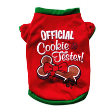 Red Pet Dog Clothes Puppy Small Coat Shirt Soft Cotton Warm Shih Tzu Pomeranian for Spring Autumn