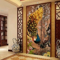 PSHINY 5D DIY Diamond embroidery Animals peacocks Pictures Full Mosaic Kits Square Rhinestone Draw Diamond Painting Cross Stitch