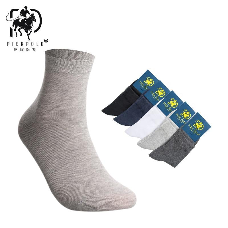 PIER polo male socks 5 pairs Pure mesh mesh breathable casual men Polo socks Casual Cotton Meias Brand Business Man Socks Sox