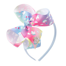 купить Color shading  Bow Baby Headbands For Girls Handmade  Metal Coins  Baby Hairband Headband Ribbon Heart Newborn Hair Accessories по цене 71.94 рублей