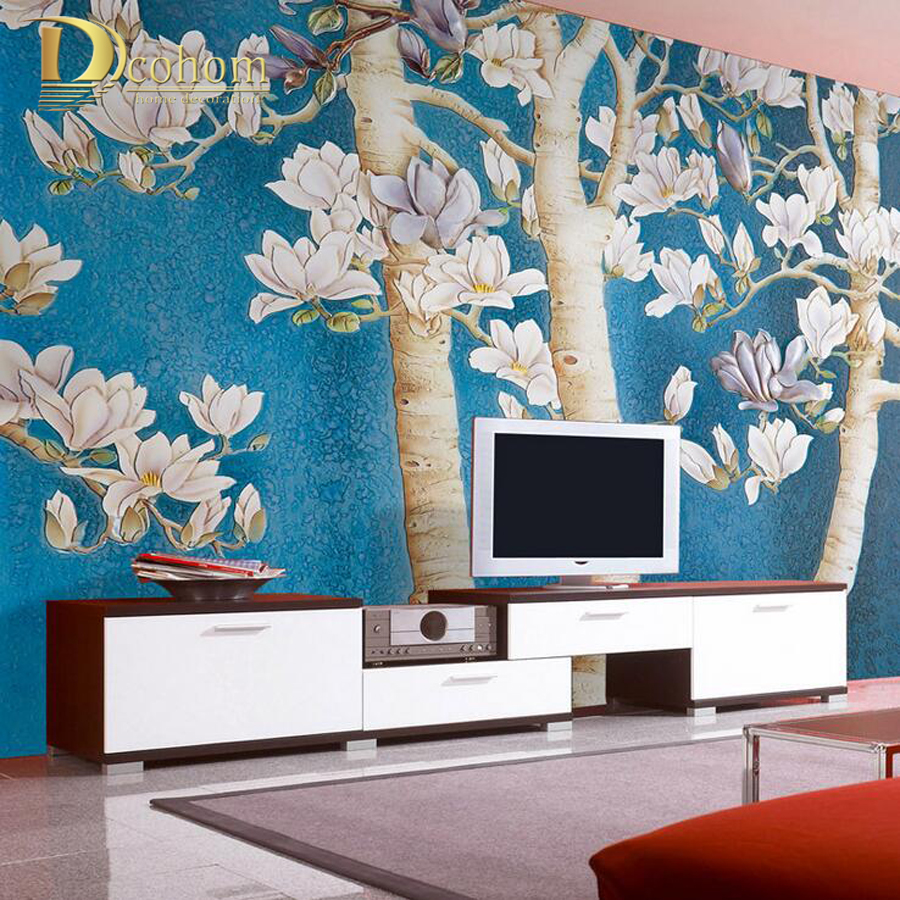 Large papel de parede decorative 3d wall panels murals wallpaper for - Modern 3d Stereo Tree Photo Wallpaper Living Room Entrance Hall Home Decor Dining Room Wall Paper