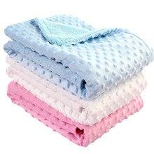 Детское одеяло для новорожденных; однотонное одеяло и пеленка; теплое мягкое Флисовое одеяло; постельные принадлежности; одеяло; муслиновый подгузник;#4M20