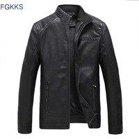 Fgkksブランドオートバイレザージャケット男性秋と冬の革服男性レザージャケット男性ビジネスカジュアルコー