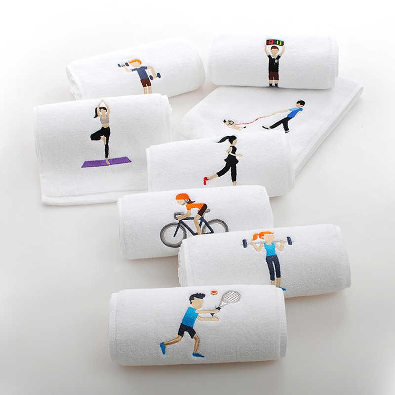 Спортивный злодей шаблон спортивное полотенце хлопок Йога Открытый Фитнес Спорт