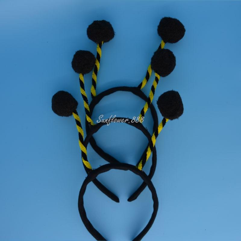 ⑤2018 Children Adult Black Bee Ant Antenna Headband Headdress ...