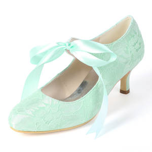 Creativesugar bridal wedding shoes mary jane heels green 2fa352e6e8b7