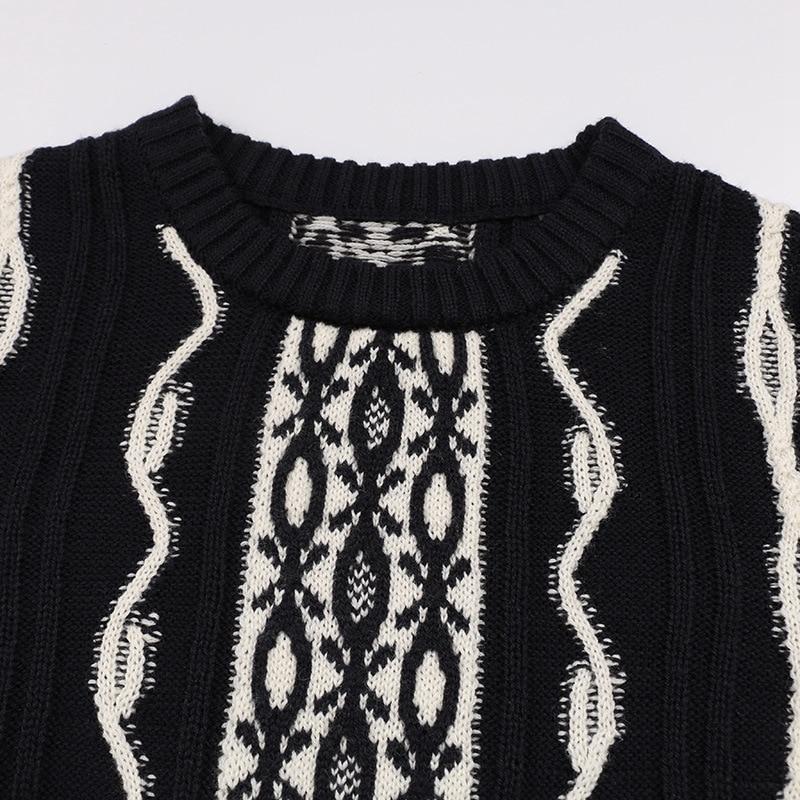 2018 Casaco Tricot Noir En Hiver Crochet Jersey Vintage Blanc Designer Chandails Feminino skirt Sweater Pull Bloc Chandail Femmes Cavalier Laine qapERE
