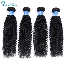 Panse Hair Deep Curly Hair 100% Burmese Human Hair Bundles 4 pcs Per Lot Human Hair Weaving 100g/3.5oz Non Remy 8-30 inches(China)