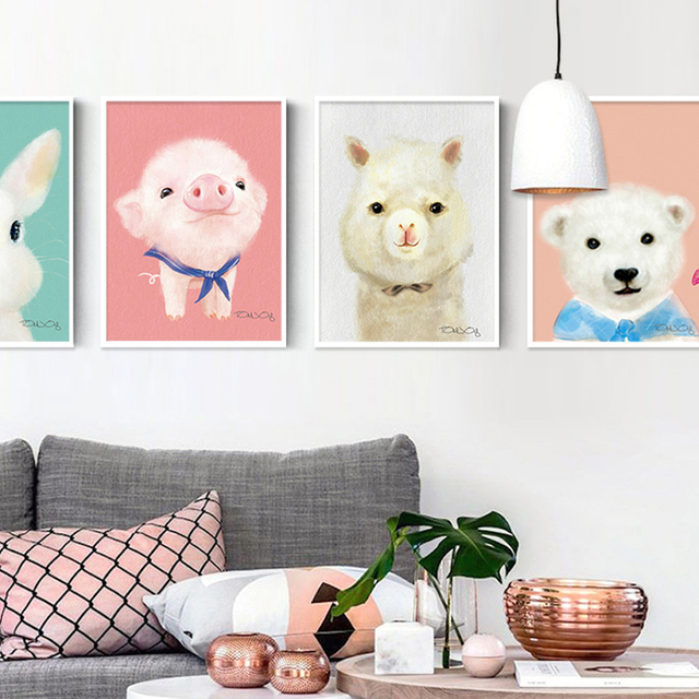 Adorable Cartoon Children S Room Decoration Painting Living Bedroom Small Apartment Home Accessories Hanging Paint