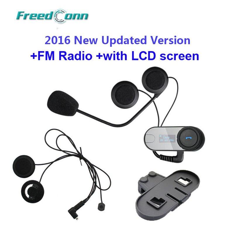 FreedConn TCOM SC W Screen Bluetooth font b Helmet b font Intercom Headset Extra Soft Earpiece