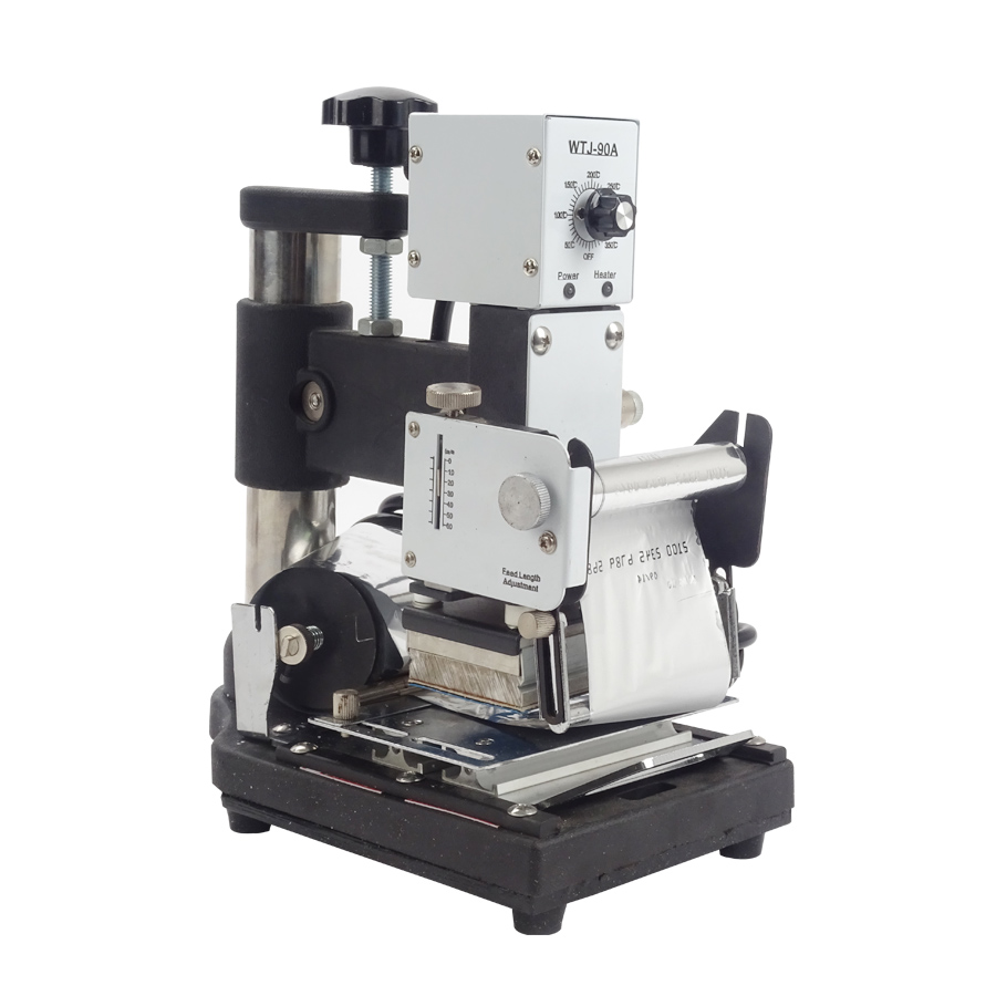 1 pcs Hot Stamping Machine For PVC Card Member Club Hot Foil Stamping Bronzing Machine WTJ-90A купить
