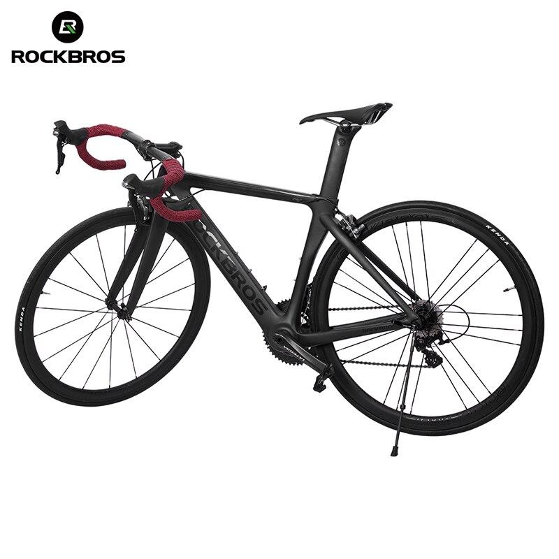 Carbon Fiber Bicycle Kickstand Antiskid Quick Release Folding Parking Rack Bike