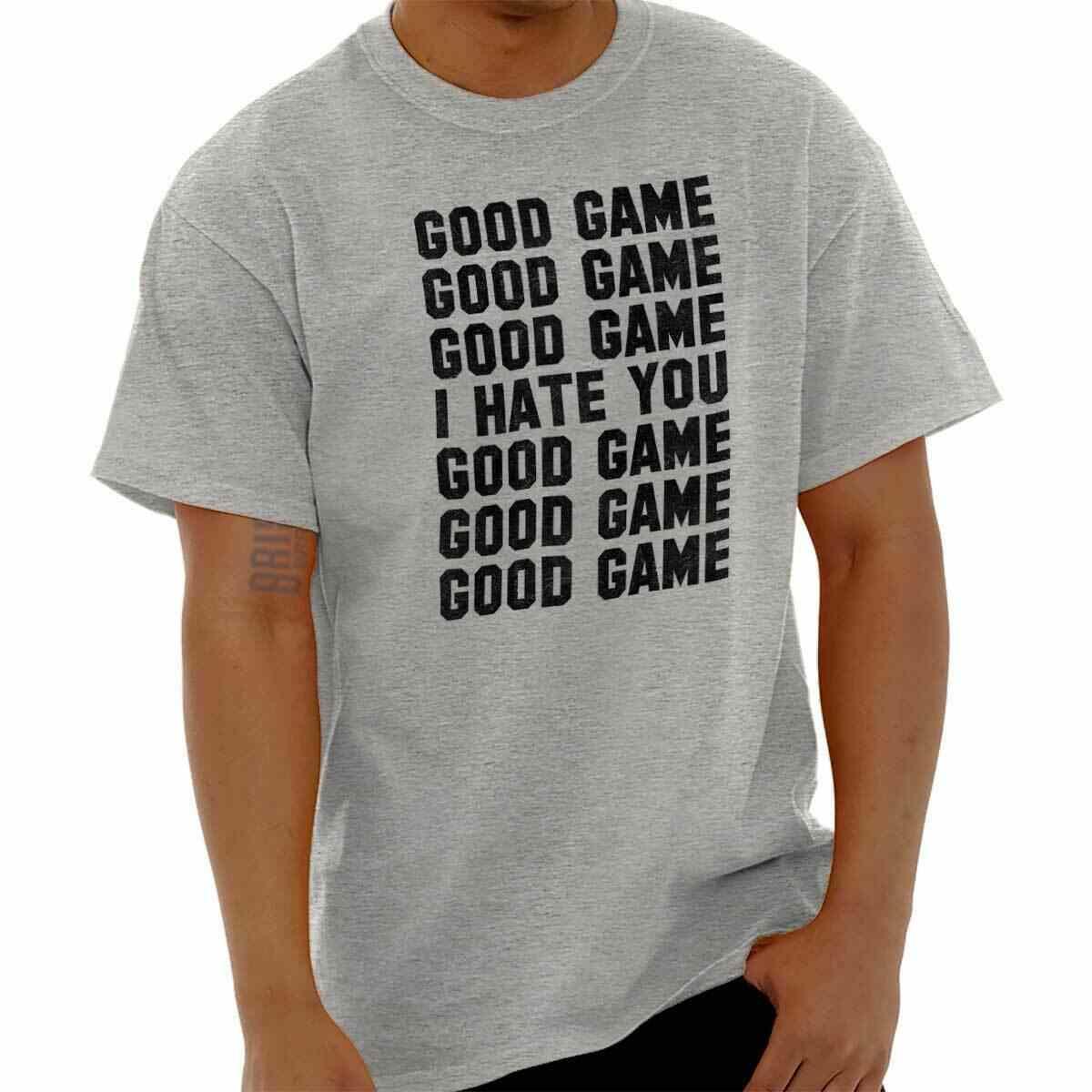 良いゲーム私はあなたおかしいシャツクールギフトかわいい皮肉ジムクラシック Tシャツ Te 、カジュアル半袖 Tシャツ卸売 tシャツ