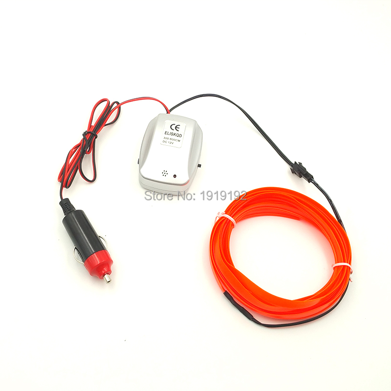 Jurus M Auto Interior Led El Flexible Wire Rope Tube Neon Light