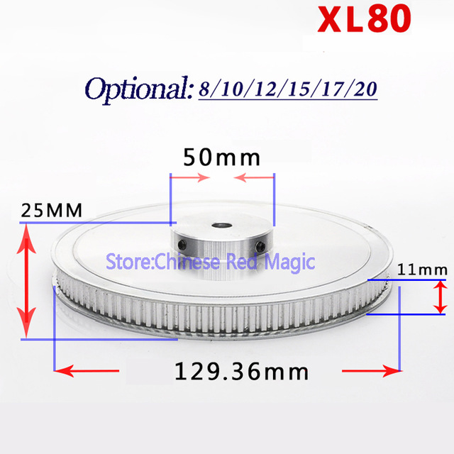 XL80 80 tooth Timing Pulley Aluminum 3D Printer Parts 80XL 80teeth Width 11mm Synchronous Wheel Gear цены