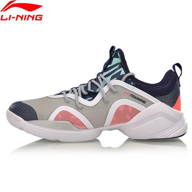 Li-Ning/потрясающая женская спортивная обувь для занятий танцами, дышащая спортивная обувь с легкой подкладкой, кроссовки AFHM038 YXX021