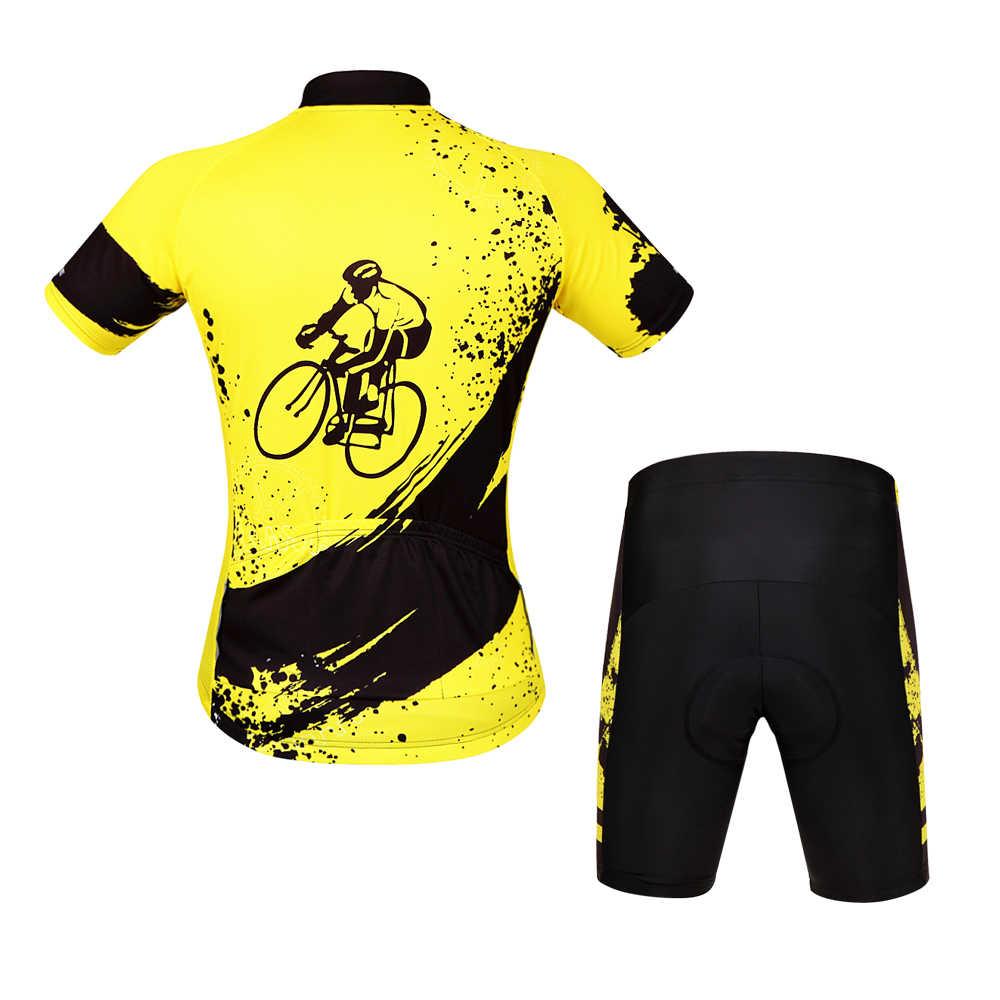 WOSAWE homme vêtements de cyclisme Jersey ensembles tenue de sport Motocross vtt vélo vélo Cycle Jersey costume à manches courtes cyclisme vêtements