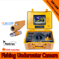 1 Set 50M Cable Underwater Fishing Camera DVR Function HD 1080P 12 White LED Fish
