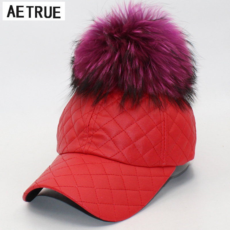 ski brand baseball caps winter women font leather doo sports