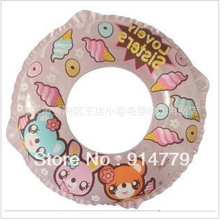 Free shipping The new 2012 authentic ABC boys girls lovely rabbit children life buoy children swimming lap 60 cm