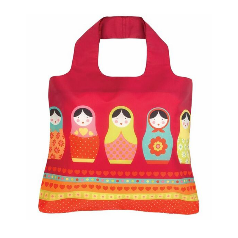 45*40cm 2015 new fashion waterproof shopping bags ultra light stout reusable Matryoshka doll small size BTE012 - Best Natures store
