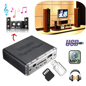 Image 5 - 12V Portable Power Amplifier MP3 SD USB Audio Player Reader 3 Electronic Keypad Control with Remote