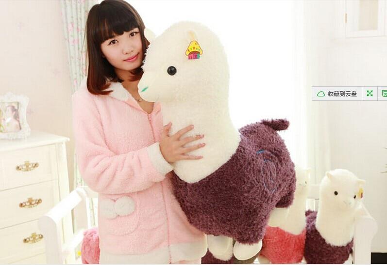 Мягкая игрушка, огромный 80 см плюшевый альпака, подушка, подарок на день рождения p2936