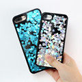 Kisscase mujer phone case para iphone 6 6 s case glitter bling paillette fluindo fundas coque para iphone 6 6 s protetor de capa dura