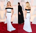 Simple Black White Mermaid Celebrity Red Carpet Dress Strapless Long Gowns Reese Witherspoon for The Academy Awards(CASA-0004)