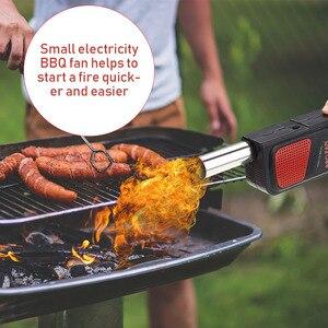 Image 5 - Ventilateur à Air portatif électrique pour Barbecue, soufflantes, outils de cuisine pour Barbecue en plein Air, pique nique, Camping