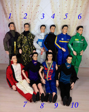 AILAIKI 5 Sets lot Clothing Suits For Boy Male Dolls Clothes Prince Ken Pilot Spaceman Camouflage