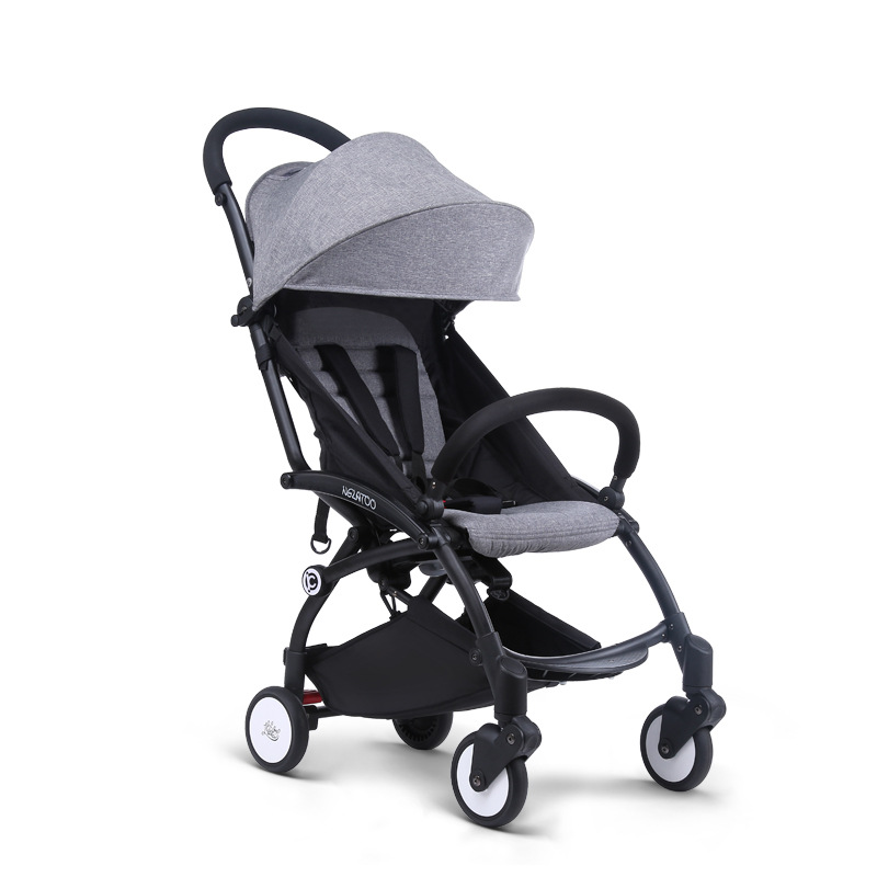 Nweborn baby Stroller Ultra Light Folding  Can Sit and Lie Four Wheeled Shock Absorbers Can be on plane  umbrella carts black baby stroller ultra light four wheel boarding folding baby stroller car carriage umbrellababy stroller two way wheeled