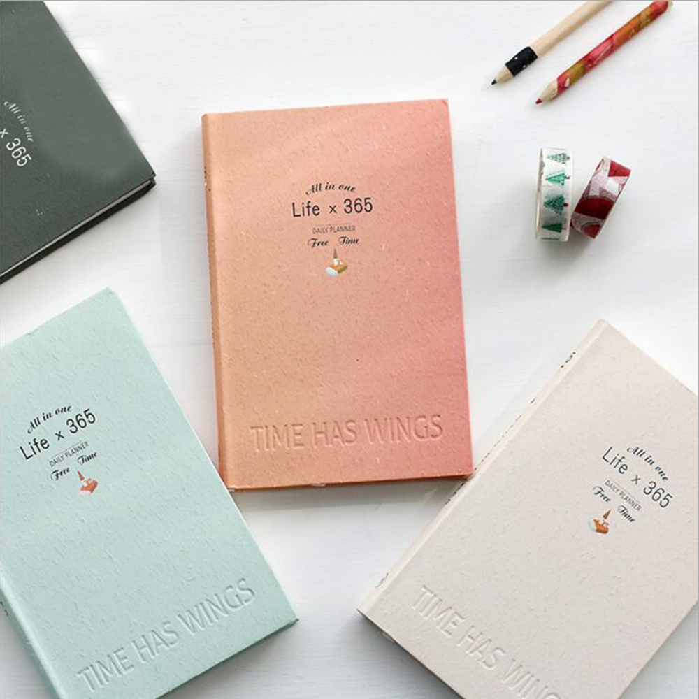 Creative Stationery 365 Daily Plan Notebook Office School Travel Supplies Cute Planner Hard cover Diary Agenda Notebooks color page diary notebook a5 simple top quality thicken notebooks school supplies stationery fine travel plan notepad gift href