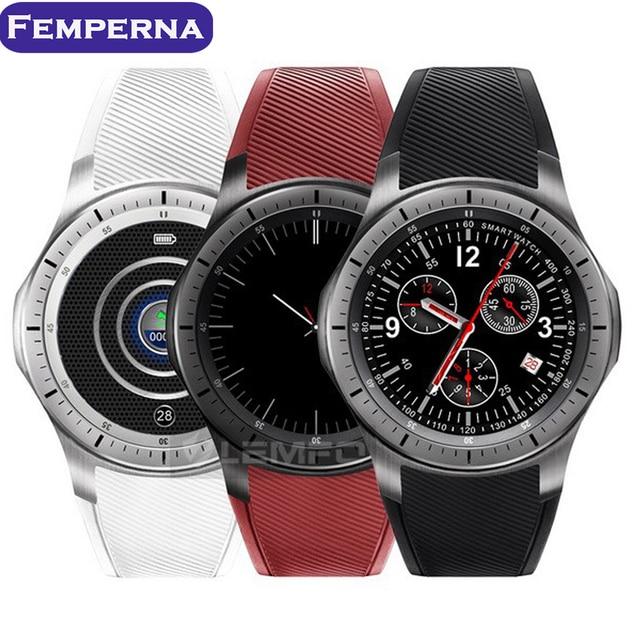 Femperna LF16 Android 5.1 Bluetooth Smart Watch MTK6580 512 + 8 GB Smartwatch Шагомер Сердечного ритма GPS WiFi 3 Г для IOS Android