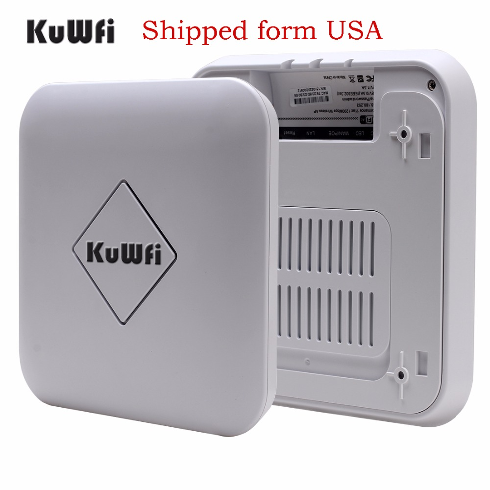 US Shipping 1200Mbps Wireless Ceiling AP Router WiFi Repeater Access Point Router 2.4G&5.8G Ceiling AP Router Support POE tenda ac6 wireless wifi router 1200mbps 11ac dual band wifi repeater 802 11ac wps wds app control pppoe l2tp eu us ru firmware