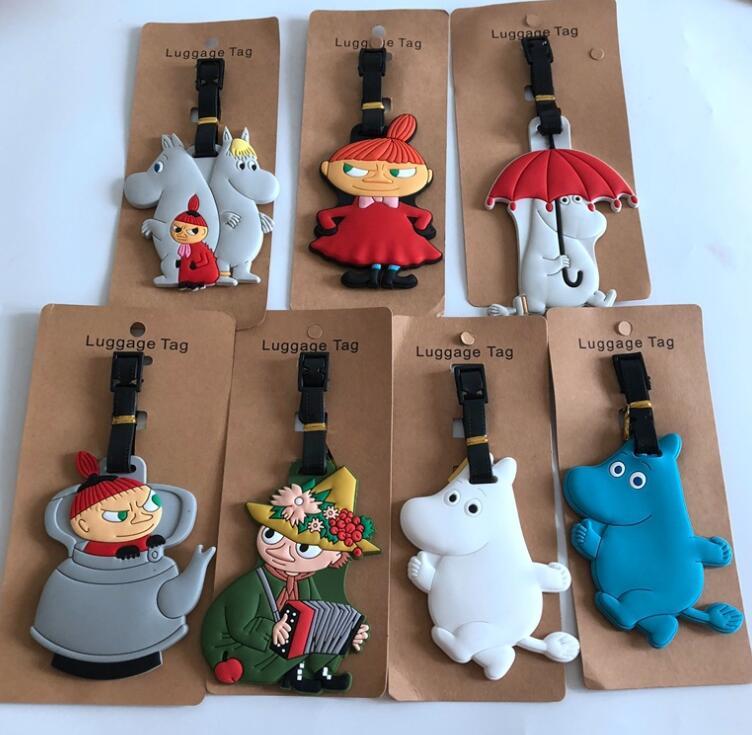 50 pcs Japanese anime witch hippo Luggage tag PVC pendants suitcase decoration keychain Card Holder GG12