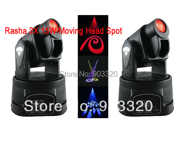 цены 2X LOT 15W LED Mini Moving Head Spot Light,Moving Stage Moving Head GOOS,Stage Effect Light for Bar,KTV,Hotel