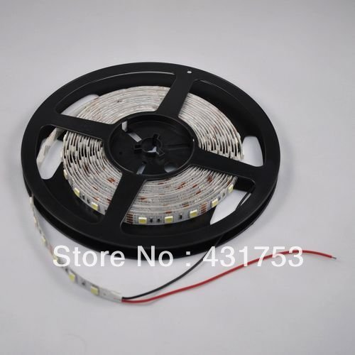 10meters/lot 5050 5m 300 Led SMD Led Strip Waterproof 60 Led per meter  White/Blue/Green/Red/Yellow/RGB  Non-waterproof