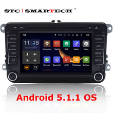 2 din car DVD player GPS navigation Android 5.1.1 Quad Core head unit car stereo radio for Volkswagen VW passat golf polo jetta