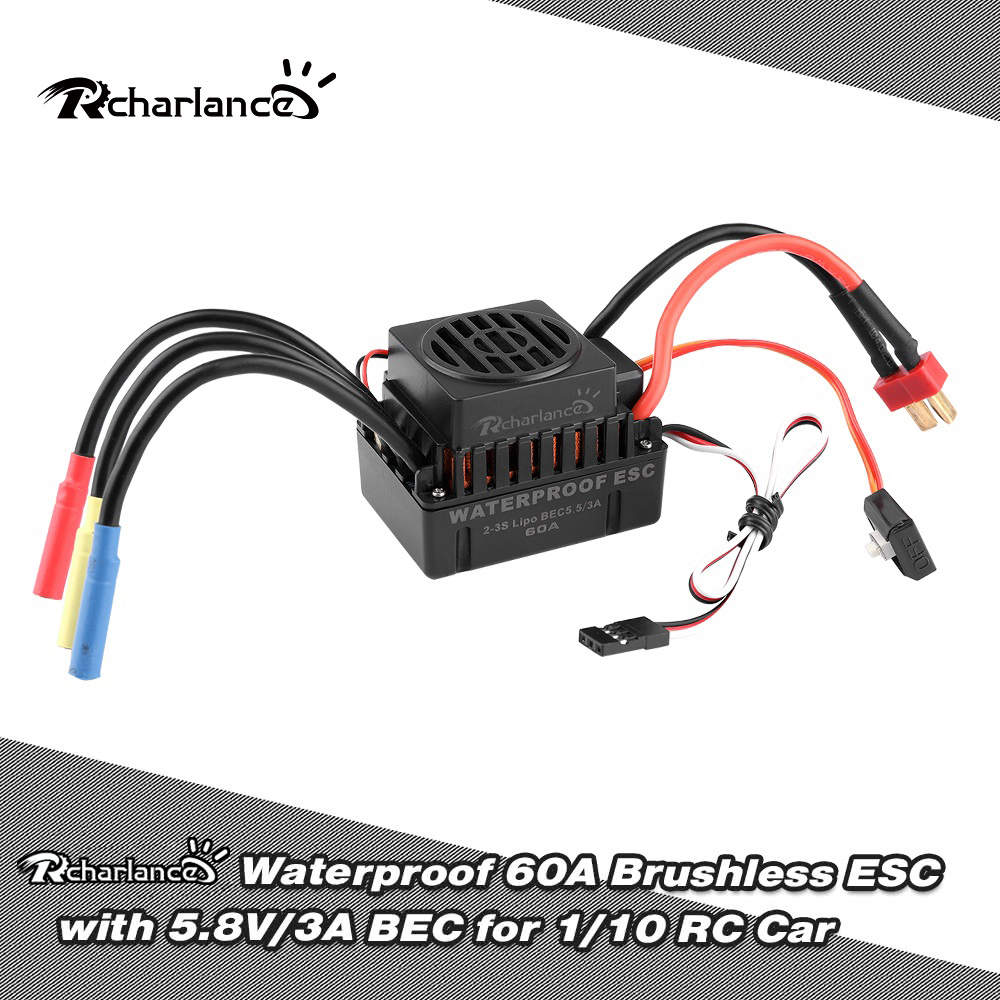 1Pcs New 5 8V 3A ESC 60A 80A 120A Brushed Motor Speed Electronic Controller For RC