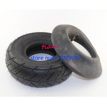 Scooter neumático tubo 3,00-4 ruedas de neumáticos se adapta a Mini 2 tiempos Quad ATV Motor piezas de bicicleta (10 ''x 3'', 260x85) para Razor Pocket E300 E325