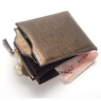 8102a2254 Hombres Multi-función de la cartera de la Juventud de cuero titular de la  tarjeta de cartera para hombres bolsillo monedero licencia carteras hombre  ...