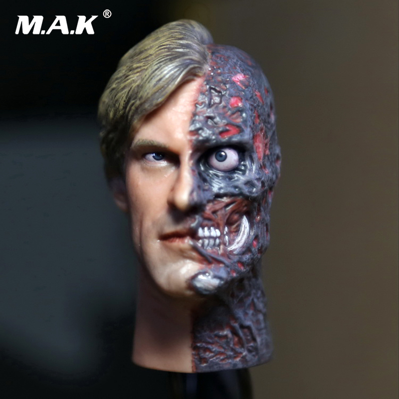 1/6 Scale Batman Dark Knight Two Faces Head Sculpt Harvey Kent Head Carving Model for male body Doll Toys Collectible 1 6 stairs batman robin detective blake joseph gordon blake head sculpt carving for hot toys body for 12phicen action figure